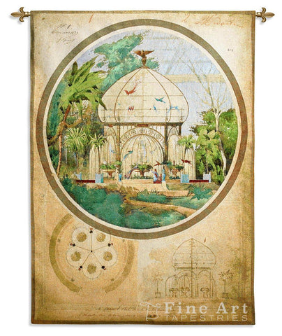Aviary in Winter Garden Wall Tapestry