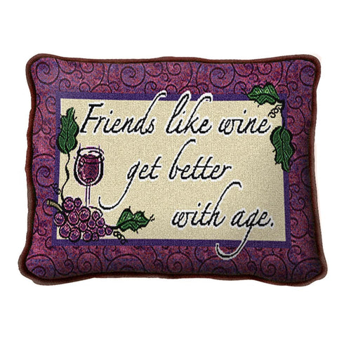 Friends Like Wine Pillow