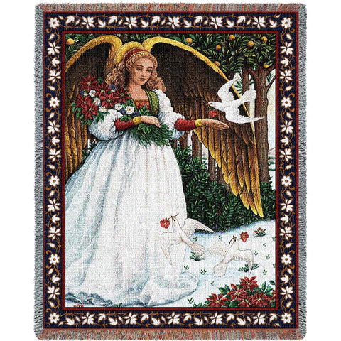 Angel with Doves Blanket