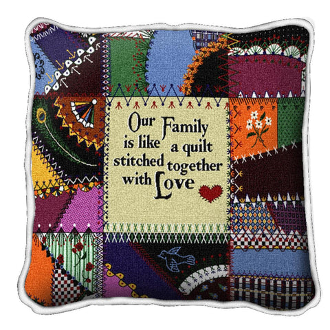 Stitched With Love Pillow Cover