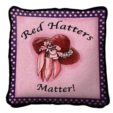 Red Hatters Matter Pillow