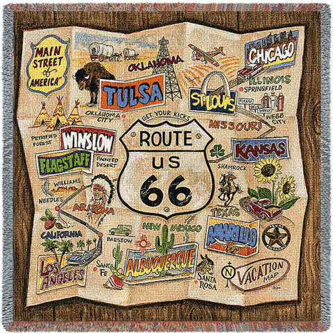 Route 66 Small Blanket
