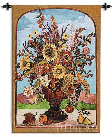 Autumn Vase Wall Tapestry
