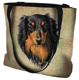 Long-haired Dachshund Black and Tan Tote Bag