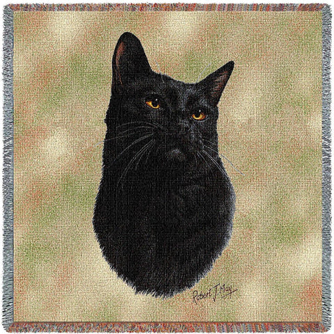 Black Cat Small Blanket