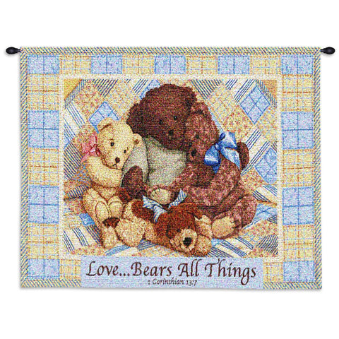 Love Bears Wall Tapestry With Rod