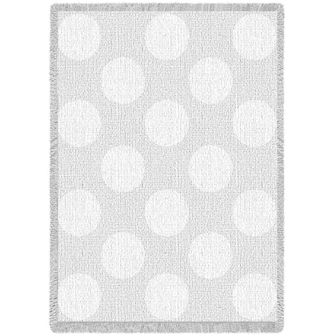 Polka Dots White Small Blanket