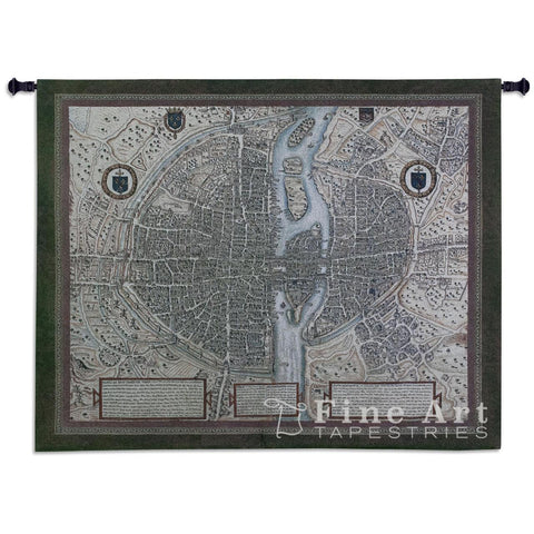 Map Of Paris Wall Tapestry