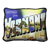 Greeting From Vermont Pillow