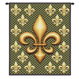 Fleur De Lis Wall Tapestry With Rod