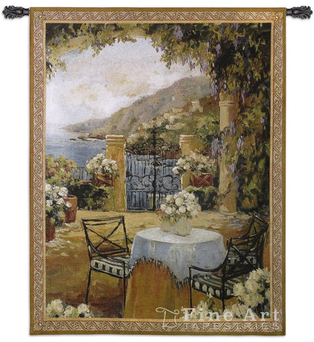 Seaside Terrace Wall Tapestry
