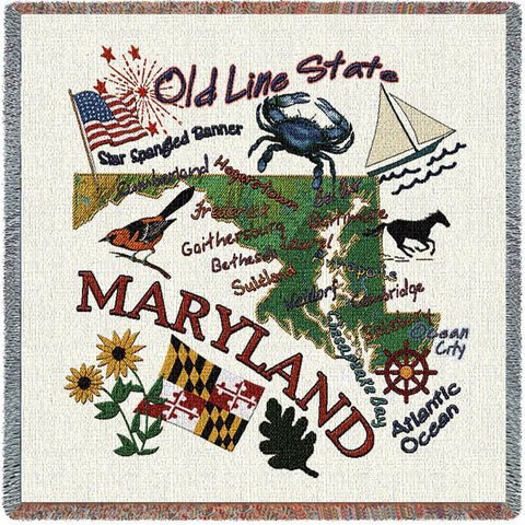 Maryland State Small Blanket