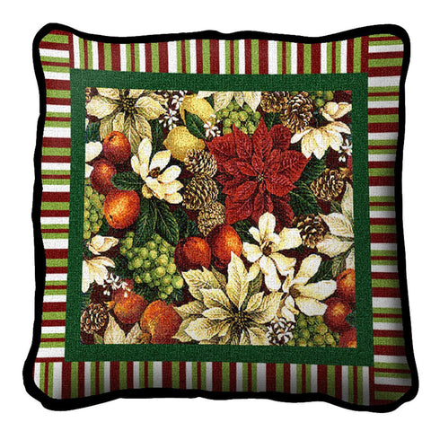 Magnolia Poinsetta Pillow