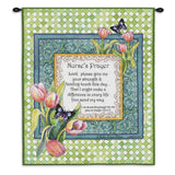 Nurse's Prayer Wall Tapestry With Rod