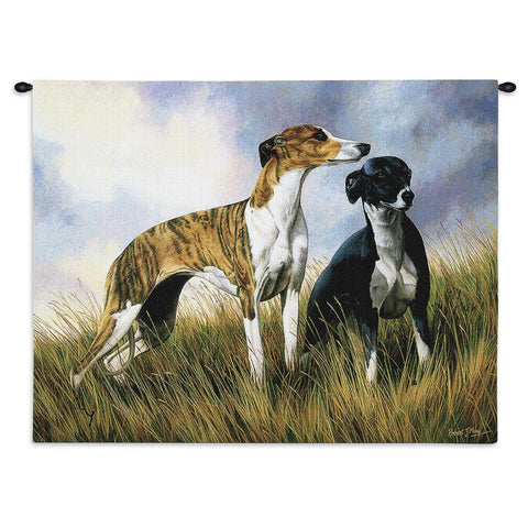 Greyhounds Wall Tapestry with Rod