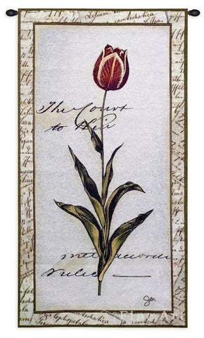 Pink Tulip II Wall Tapestry