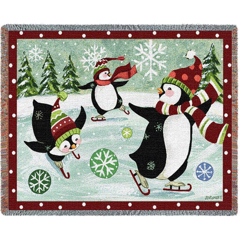 Christmas Penguin Blanket