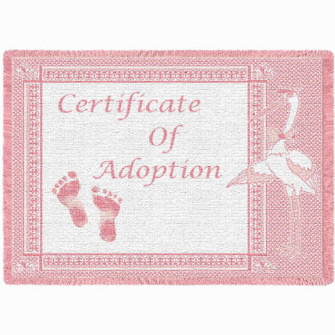 Certificate of Adoption Girl Mini Blanket