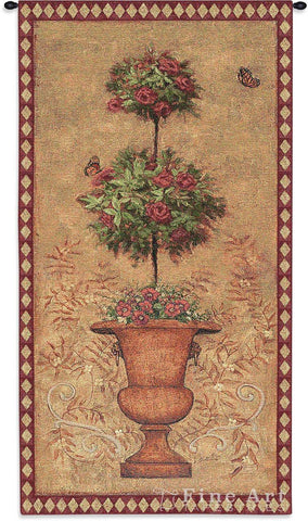 Rose Topiary I Wall Tapestry