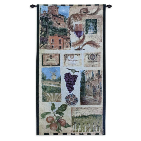 Wine Country II Small Wall Tapestry