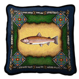Fish Lodge Green Pillow