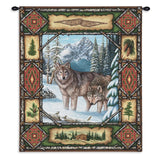 Wolf Lodge Wall Tapestry With Rod