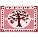 Family Tree Heart Cran Blanket
