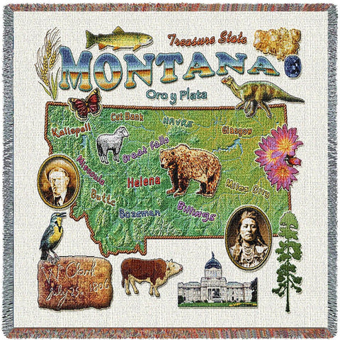 Montana State Small Blanket