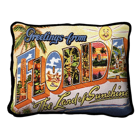 Greetings From Florida Pillow