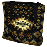 Southwest Sampler Black and Gold Tote Bag