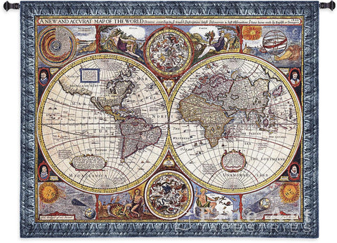 A New And Accurate Map Small Wall Tapestry