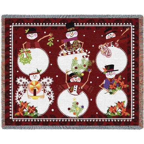Six Snowman Mini Blanket
