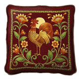 Sunrise Rooster Pillow
