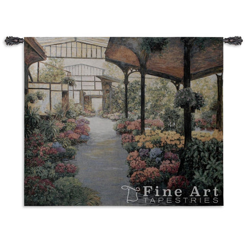 Paris Flower Market I Wall Tapestry