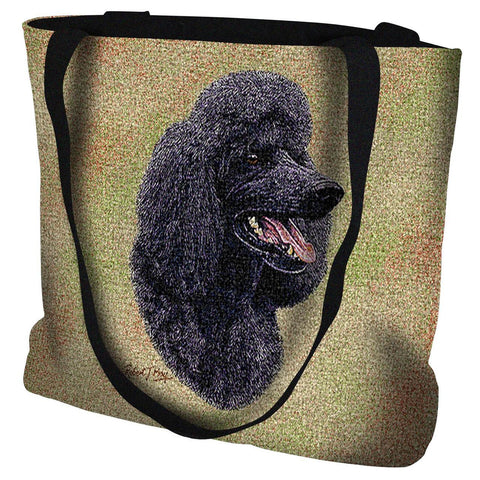 Poodle Black Tote Bag