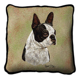 Boston Terrier Black Pillow