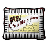 Life Is Like A Piano Pillow