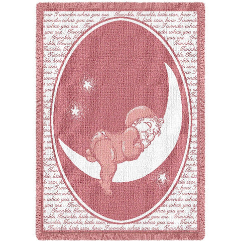 Twinkle Twinkle Little Star Pink Small Blanket