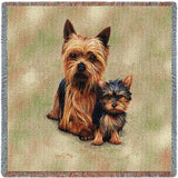 Yorkshire Terrier with Puppy Small Blanket