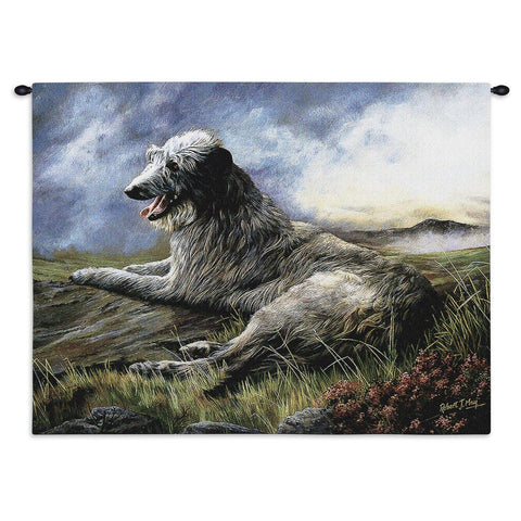 Scottish Deerhound Wall Tapestry with Rod