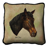 Thoroughbred Dark Brown Pillow Cover