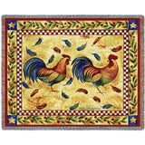 Two Roosters Blanket