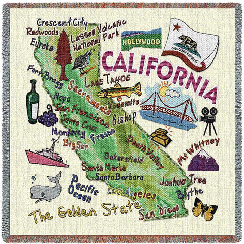 California State Small Blanket