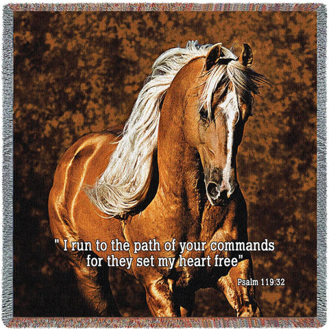 Golden Boy Horse Scripture Small Blanket