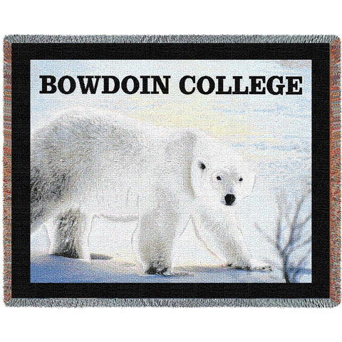 Bowdoin College Bear Stadium Blanket
