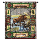 Moose Lodge Wall Tapestry With Rod