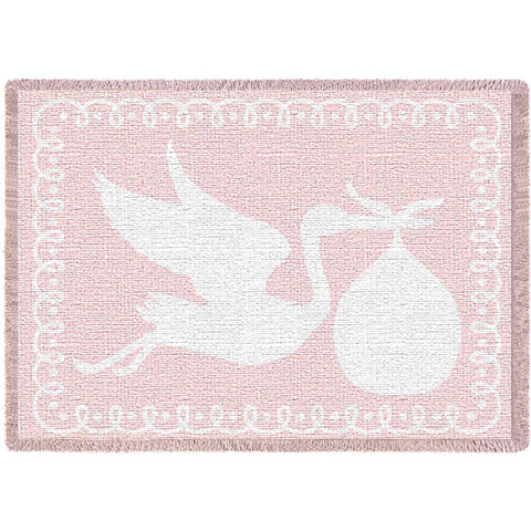 Stork Pink Small Blanket