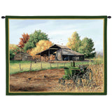 End Of Harvest Wall Tapestry With Rod