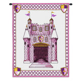 Castle Pink Wall Tapestry With Rod