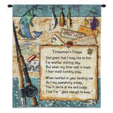 Fishermans Prayer Wall Tapestry With Rod